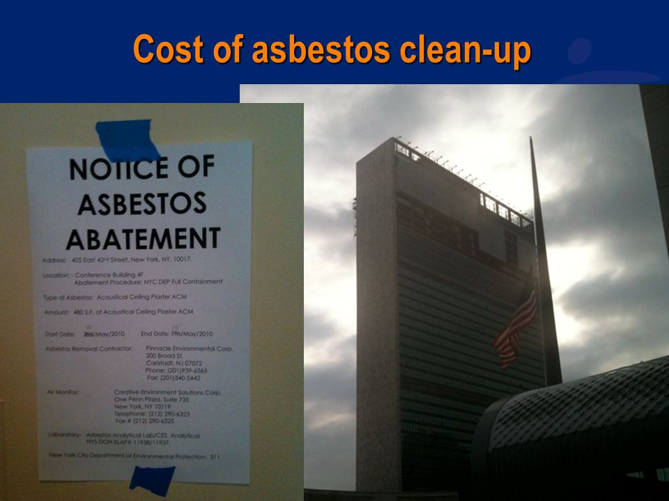 www.wecf.eu Cost of asbestos clean-up