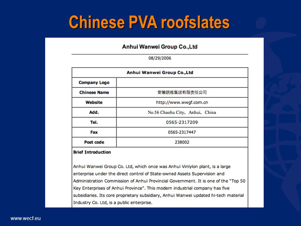 Chinese PVA roofslates