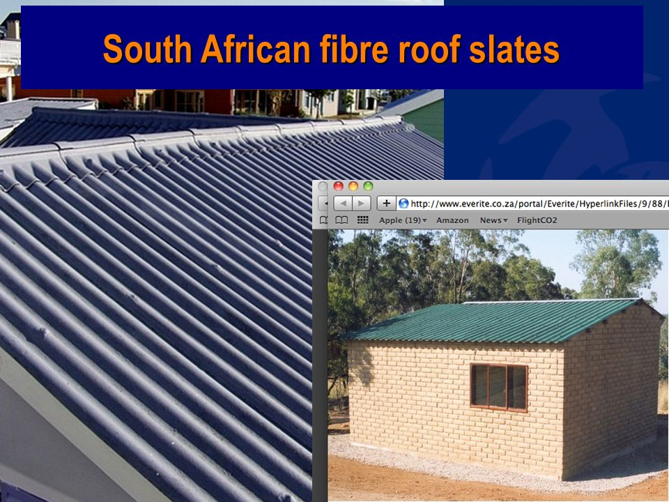 www.wecf.eu South African fibre roof slates