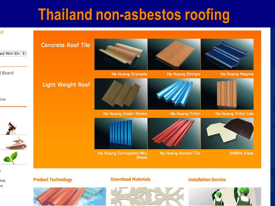 www.wecf.eu Thailand non-asbestos roofing