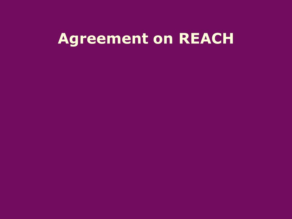 Agreement on REACH