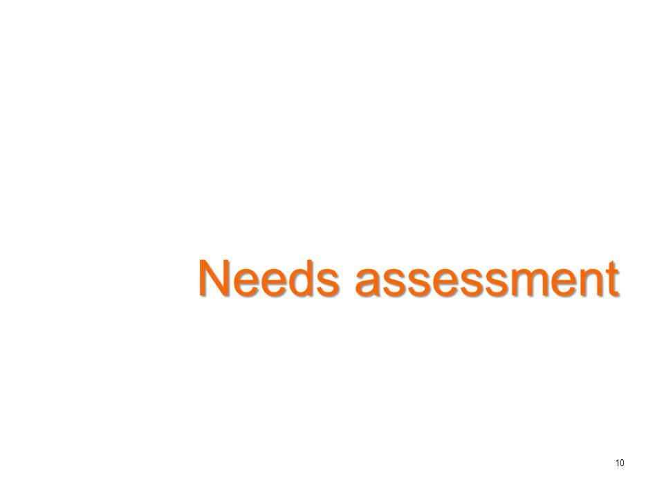 Needs assessment 10