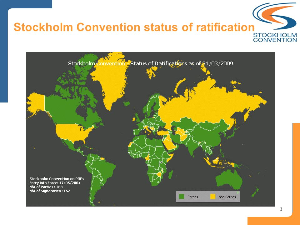 3 Stockholm Convention status of ratification