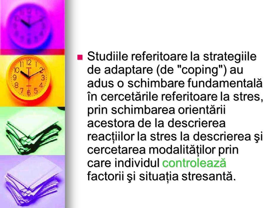 Studiile referitoare la strategiile de adaptare (de