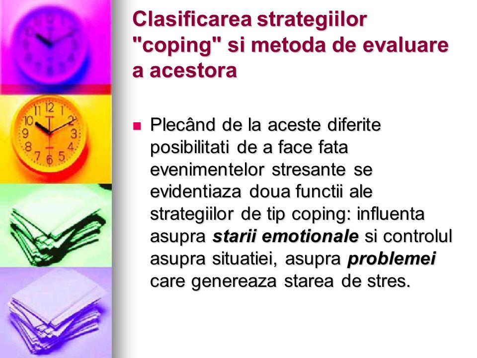Clasificarea strategiilor