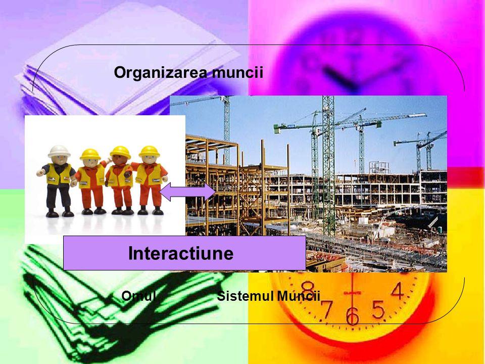 Interactiune OmulSistemul Muncii Organizarea muncii
