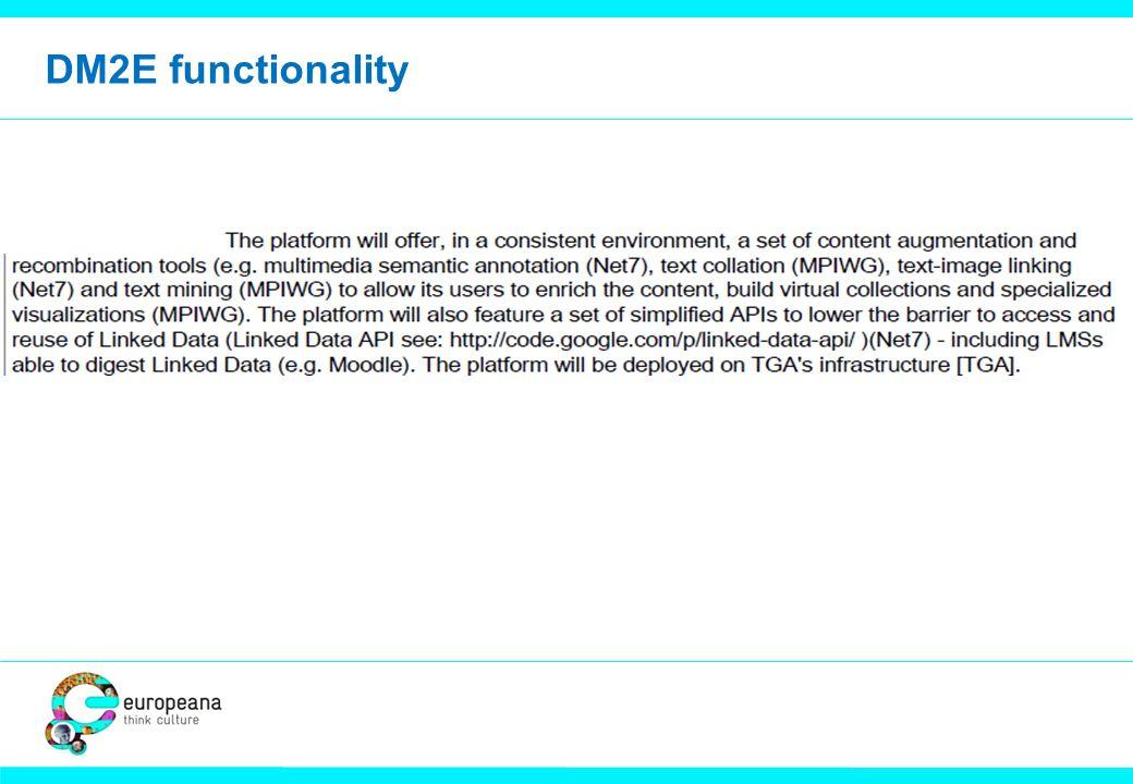 DM2E functionality