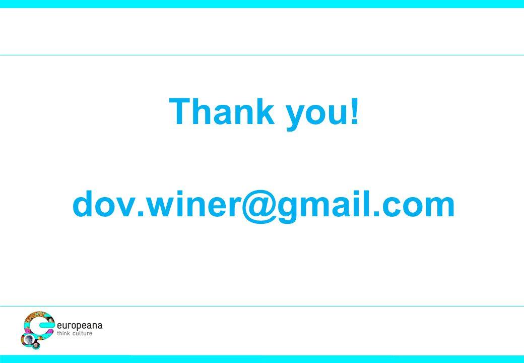 Thank you! dov.winer@gmail.com