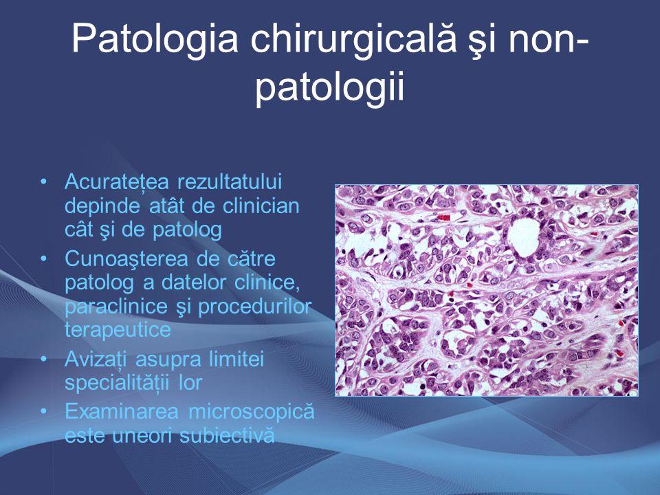 Microscopia electronică Utilizată în general pentru cercetare Identificarea histogenezei şi diferenţierii Patologia renală, tegumentară Contribuţie diagnostică: –Tu celule granulare –Tu teacă nerv periferic –Histiocitoză Langerhans –Mezoteliom –Carcinoid –Carcinom cu celule mici