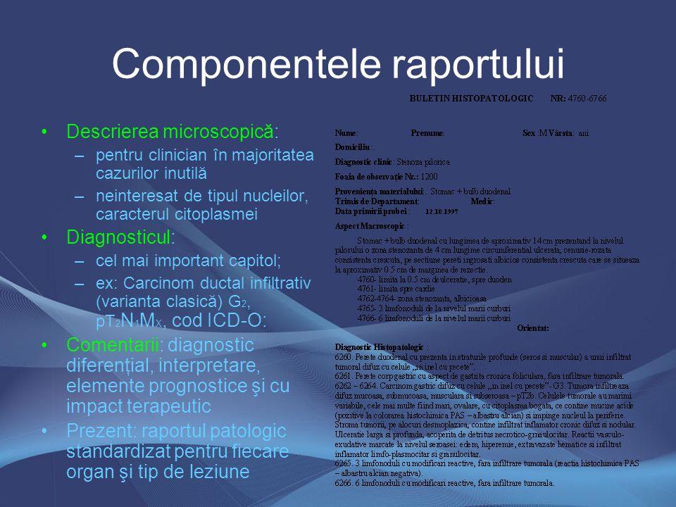 Metode de colorare Morfologice (HE, tricrome) Histochimice (PAS, AA, AT) –Histoenzimologice Imunohistochimice –Metode cantitative Citologice (Papanicolaou, APT-Drăgan, MGG)