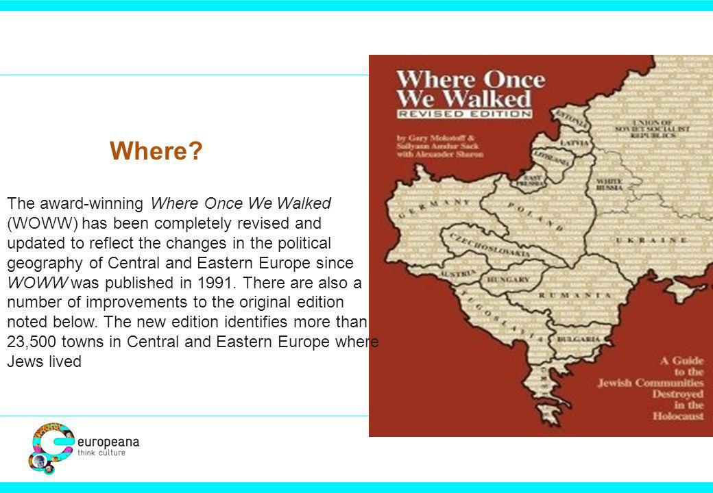 The award-winning Where Once We Walked (WOWW) has been completely revised and updated to reflect the changes in the political geography of Central and