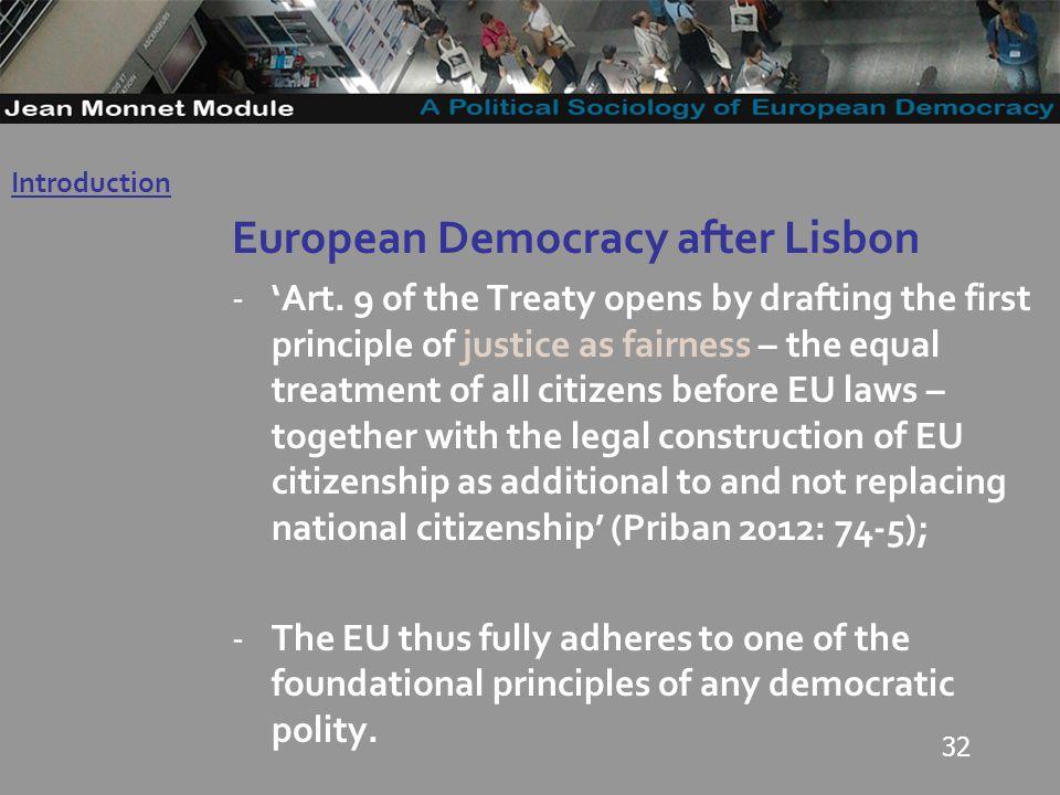 32 European Democracy after Lisbon -Art.