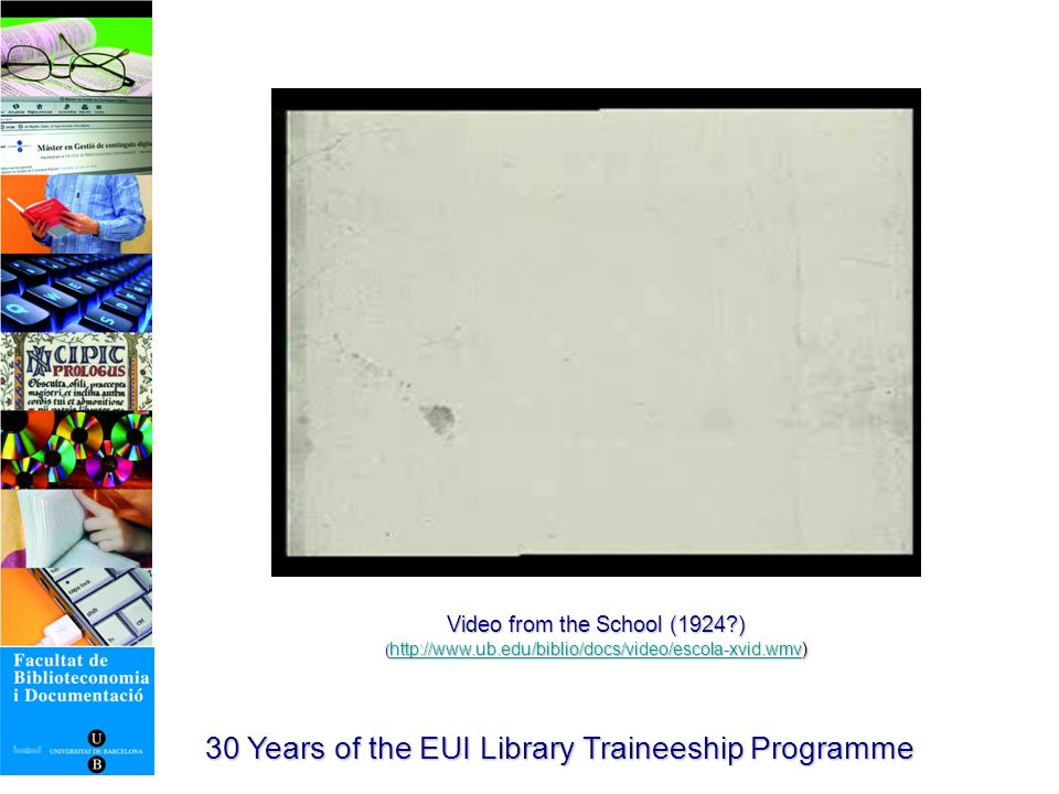 Trainees from 2001 to 2003 30 Years of the EUI Library Traineeship Programme