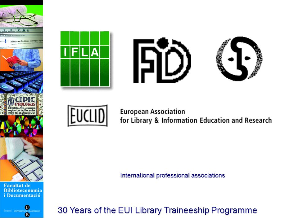 30 Years of the EUI Library Traineeship Programme 1935 IFLA Conference. Barcelona