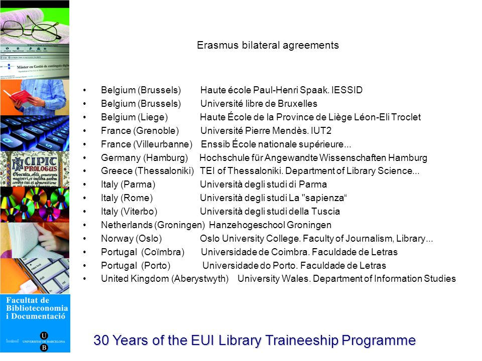 30 Years of the EUI Library Traineeship Programme Mòbils BiD (http://mobilsbid.blogspot.com/) http://mobilsbid.blogspot.com/