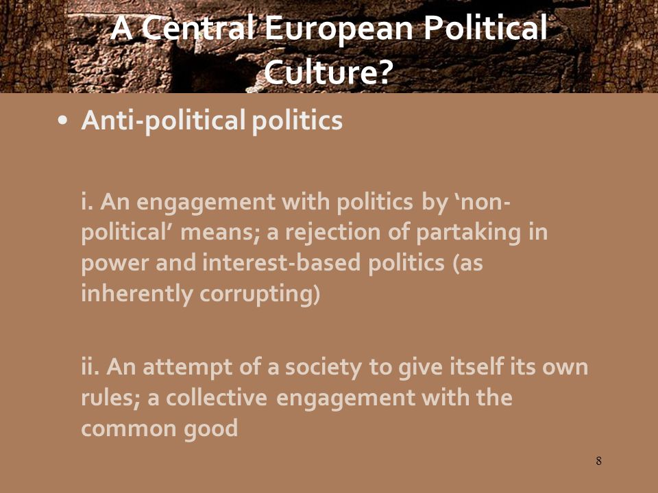 19 A Central European Political Culture.