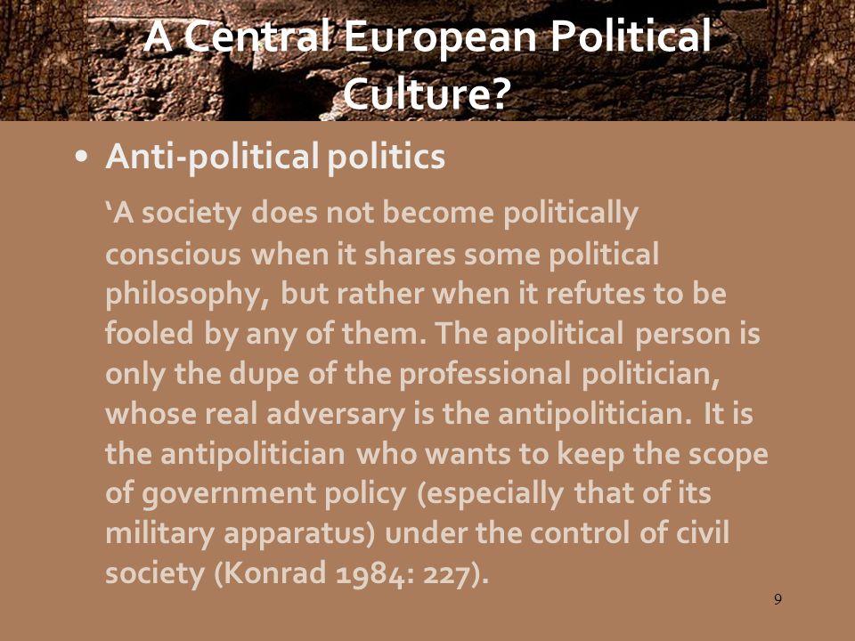 20 A Central European Political Culture.
