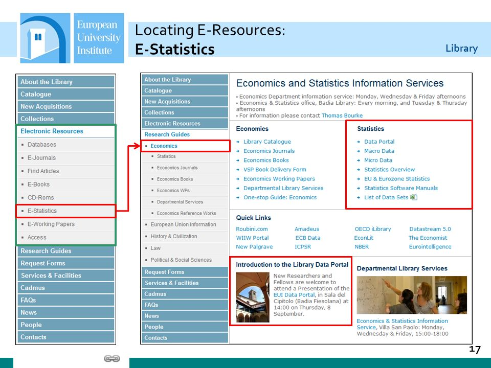 Library Locating E-Resources: E-Statistics 17