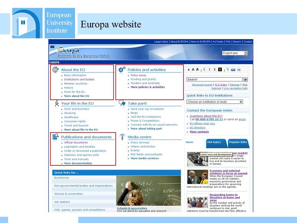 Friday 29 October /02/ :59 Europa website
