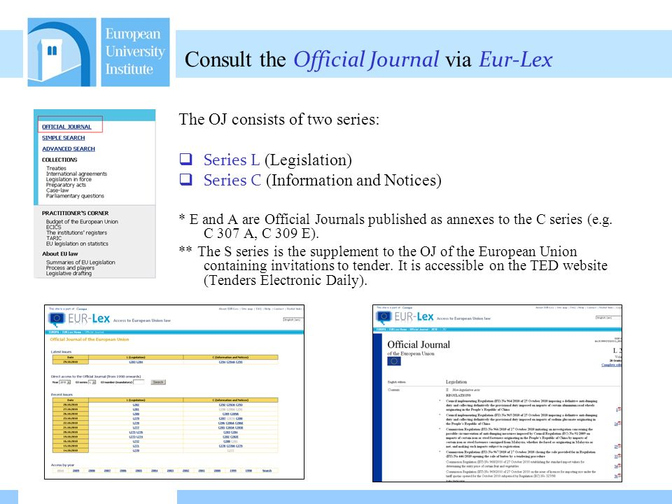 Friday 29 October 2010 16/02/2014 09:59 How to find information in EUR-Lex Simple Search (1) Search using keywords