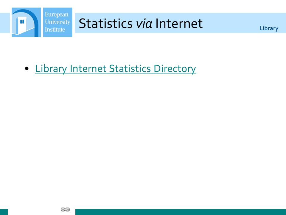 Library Statistics via Internet Library Internet Statistics Directory