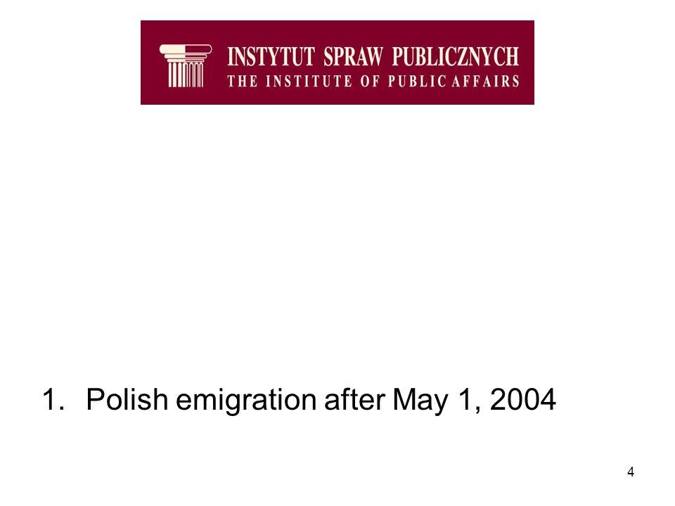 4 1.Polish emigration after May 1, 2004