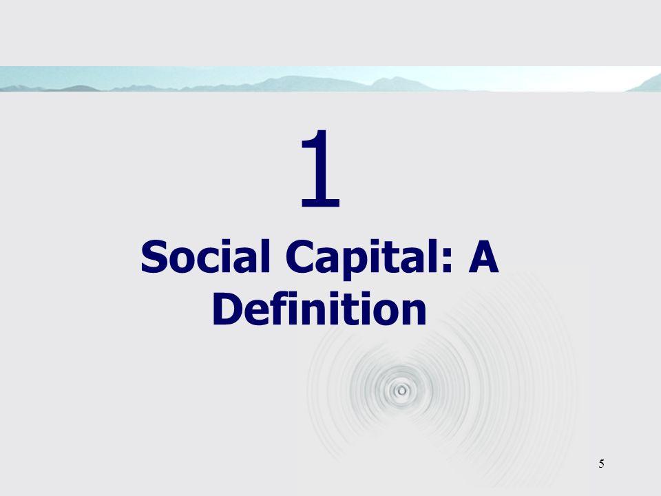5 1 Social Capital: A Definition