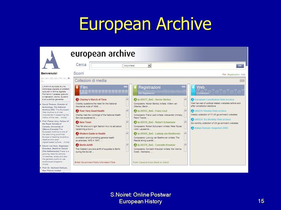 S.Noiret: Online Postwar European History15 European Archive