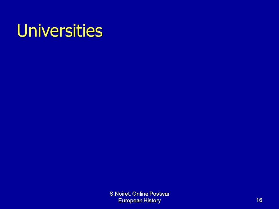 S.Noiret: Online Postwar European History16 Universities
