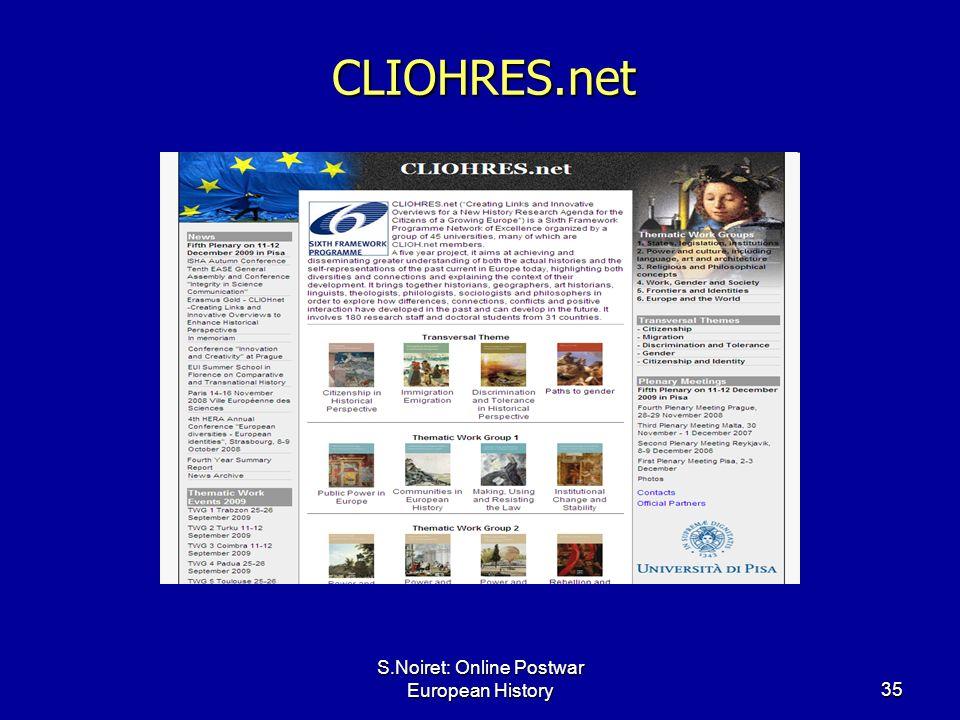 S.Noiret: Online Postwar European History35 CLIOHRES.net