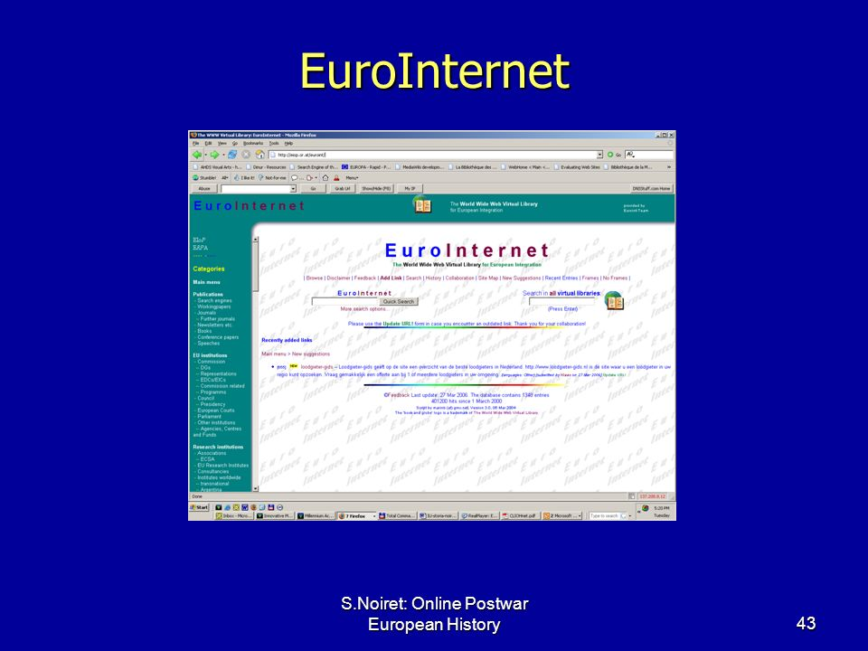 S.Noiret: Online Postwar European History43 EuroInternet