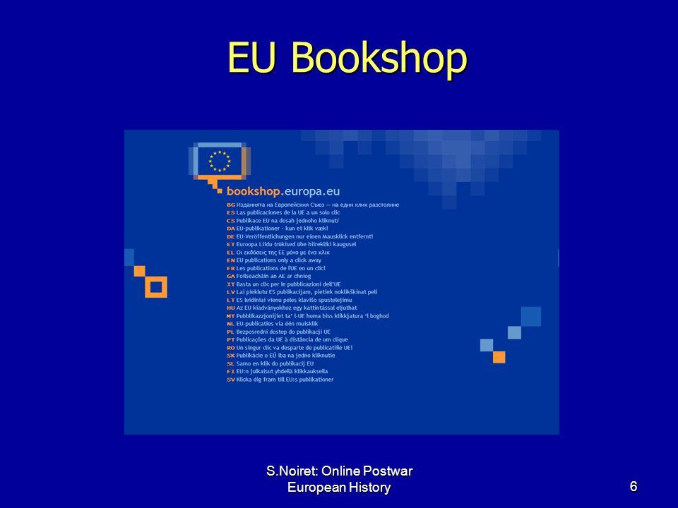 S.Noiret: Online Postwar European History6 EU Bookshop