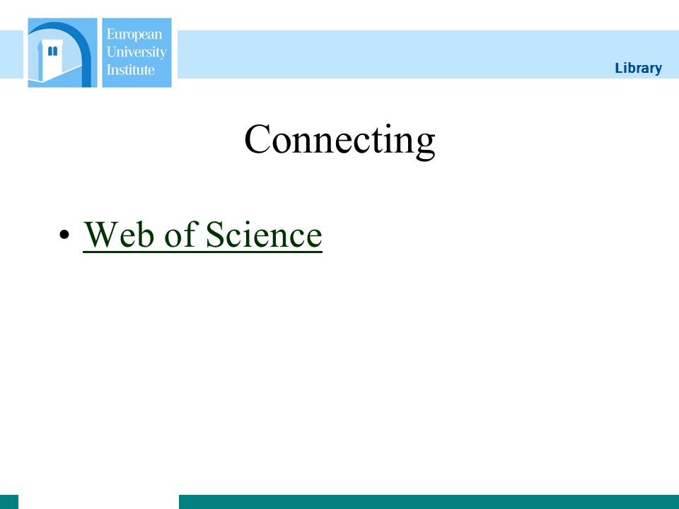 Library Connecting Web of Science