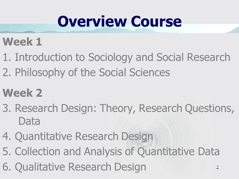 1 Sociological Research Methods Paul Blokker
