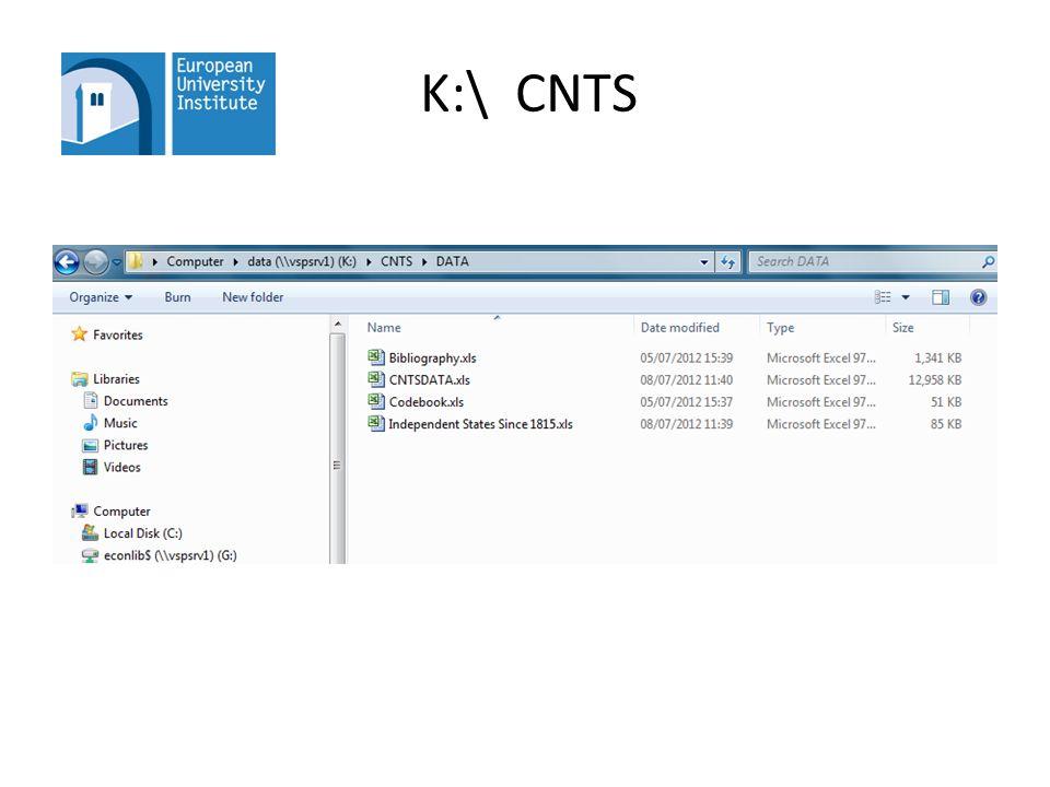 K:\ CNTS