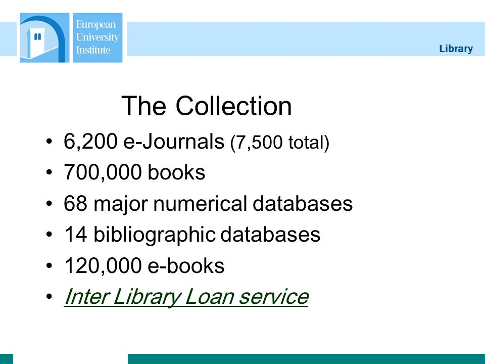 Library The Catalogue Full text journals Book locations (shelfmarks) and e-book access Full text working papers (eg.