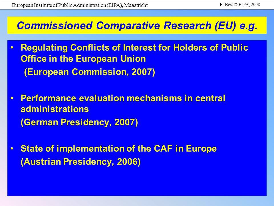 European Institute of Public Administration (EIPA), Maastricht E.