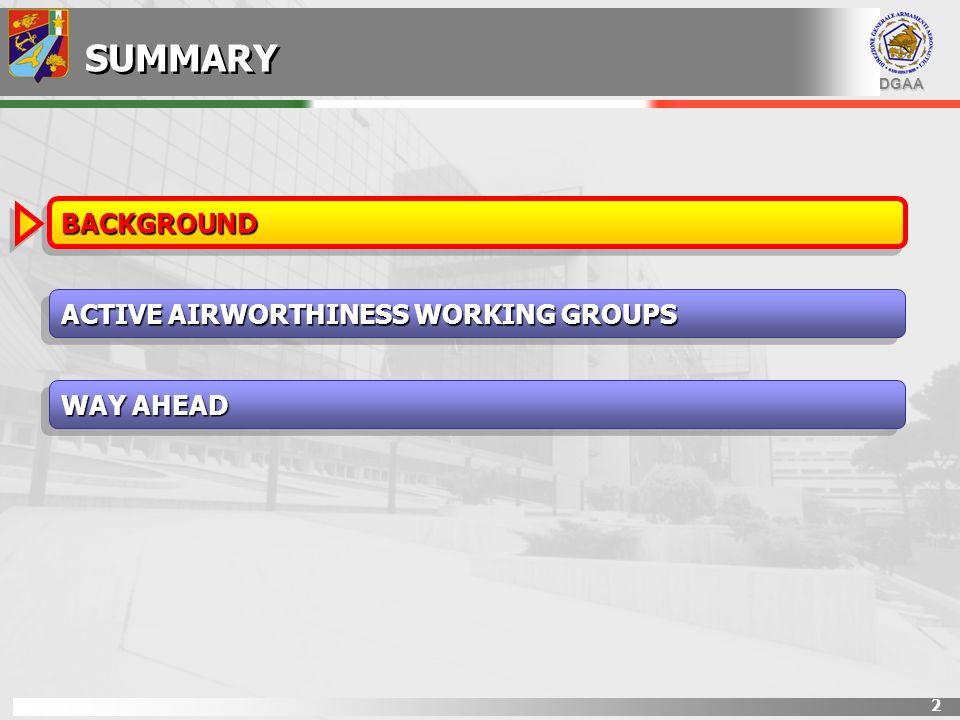 DGAA 13 PERF+AW AW 1st: issue MTC 2nd: issue MTQC AIRWORTHINESS BASIS PERFORMANCE ORIENTED TECH SPECH MIL-HDBK-516 CERTIFICATION or QUALIFICATION.