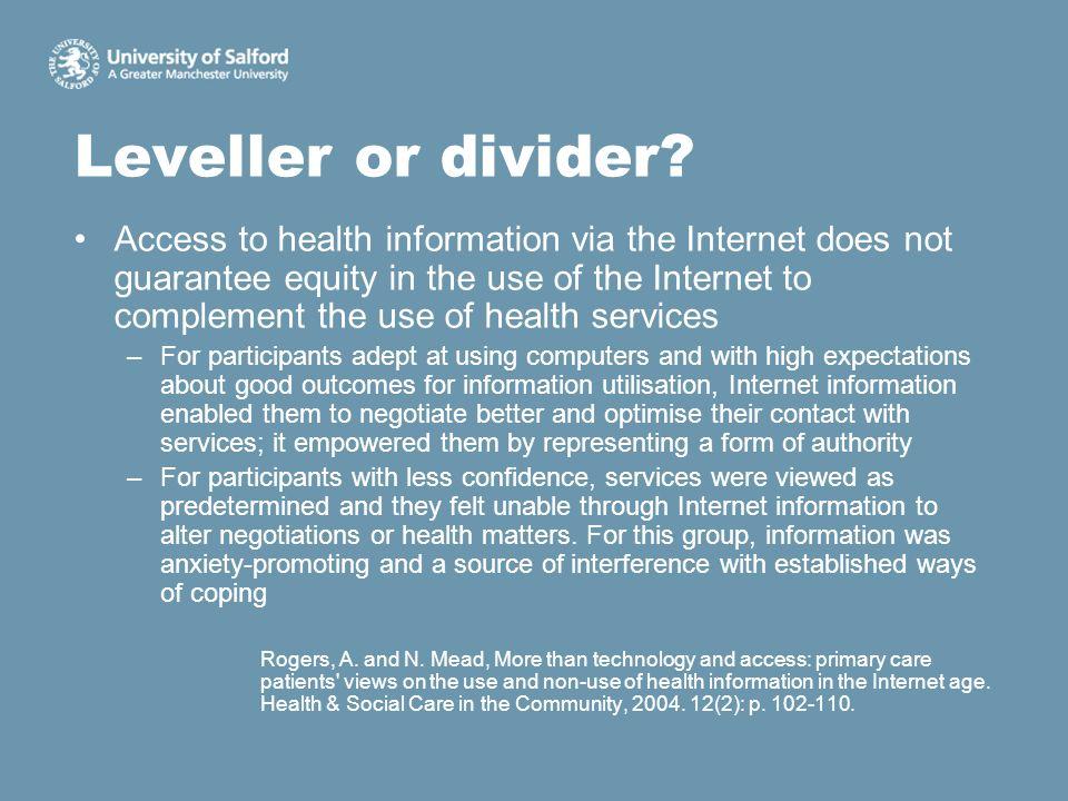 Leveller or divider.