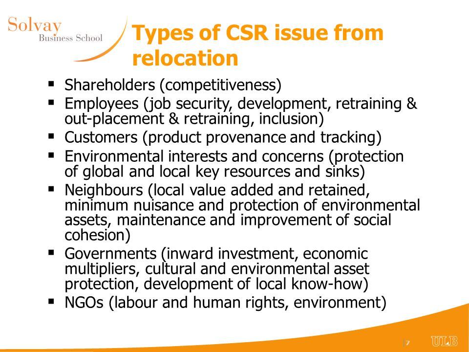 |8|8 X X But relocation has many CSR poles… Location (To B) Relocation (From A to B) Within EU Beyond EU Developing Economies Entry Policy* Exit & Entry Policy* Entry Policy for Developing Economies* Exit Policy From EU plus Entry Policy for Developing Economies* B EU B ex-EU B EU A B ex-EU A (* This does not take account of market expectations of CSR)