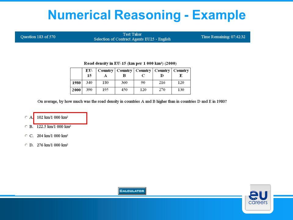 Numerical Reasoning - Example