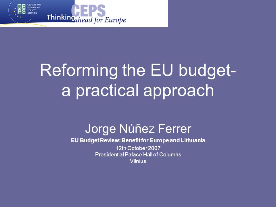 Back to basics: objectives and principles Budget is too politicised –Quality and rationale damaged -> rebates Principles: –Subsidiarity –Proportionality –Additionality –Added Value Cost efficient Objective efficient –European Public Goods –European Value Added