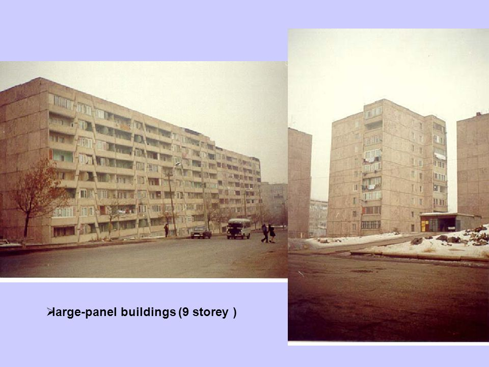 large-panel buildings (9 storey )
