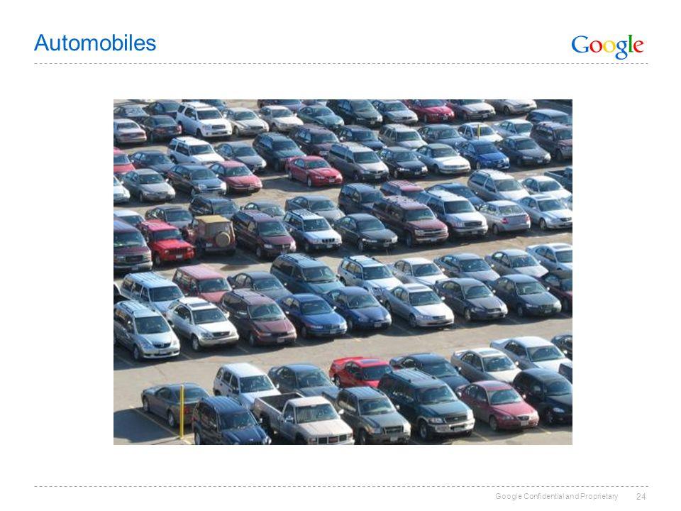 Google Confidential and Proprietary 24 Automobiles