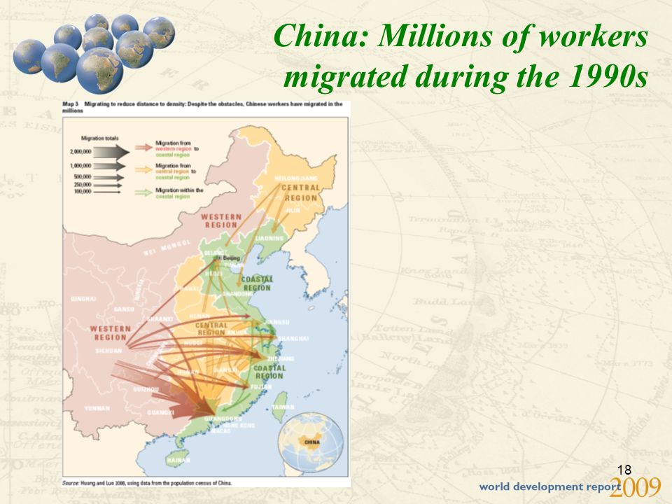 18 China: Millions of workers migrated during the 1990s