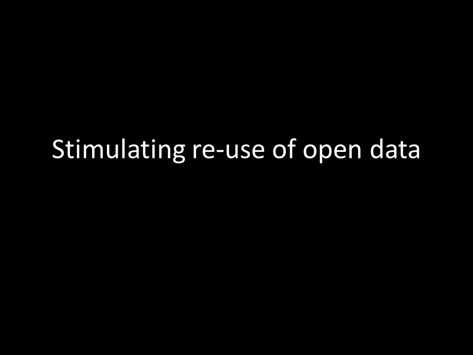 Stimulating re-use of open data