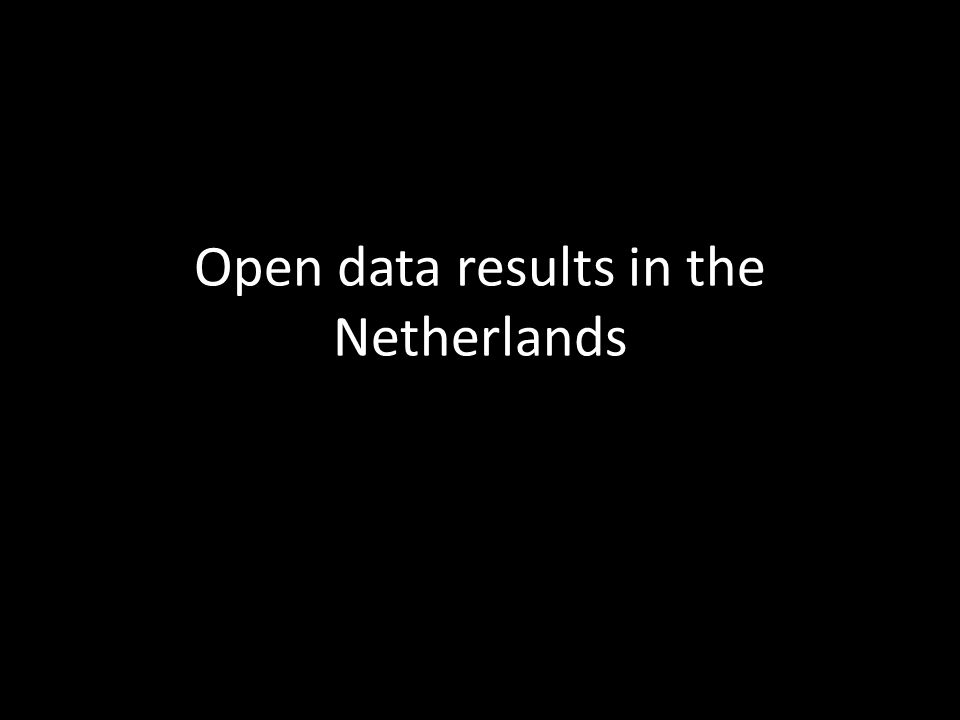 Open data results in the Netherlands