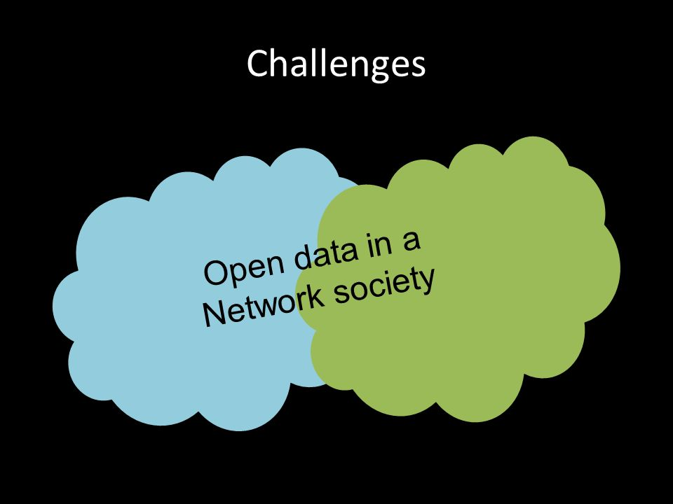 Challenges Open data in a Network society
