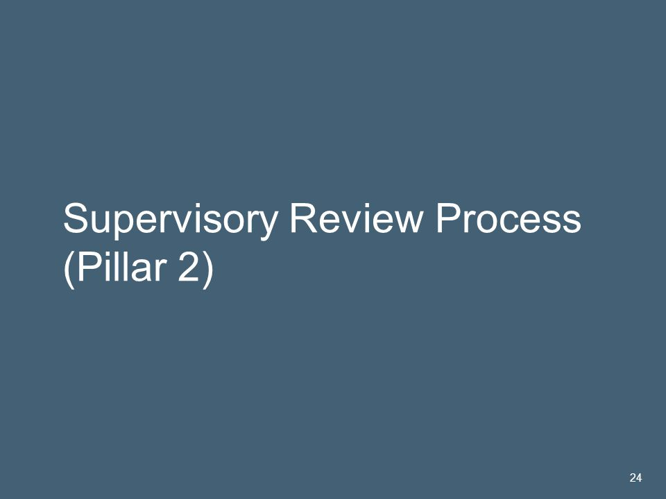 José María Roldán | 14 Nov 2005 24 Supervisory Review Process (Pillar 2) 24