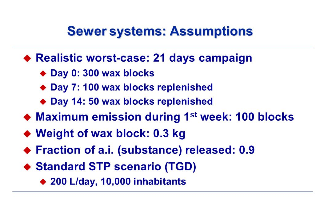 Sewer systems: STP